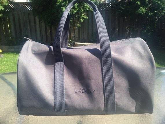 debe3c54d29e Vintage Grey Givenchy Parfums Duffle Bag by MajorDivision on Etsy ...