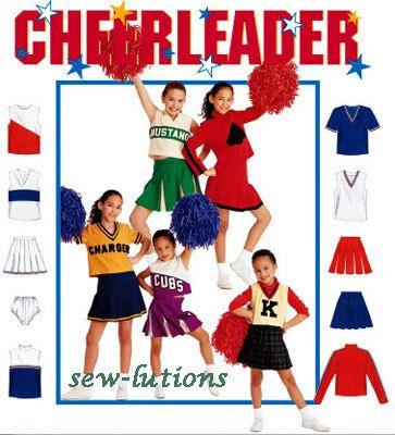 CHEERLEADER Costume Sewing Pattern - Cheerleading Majorette Uniform ...