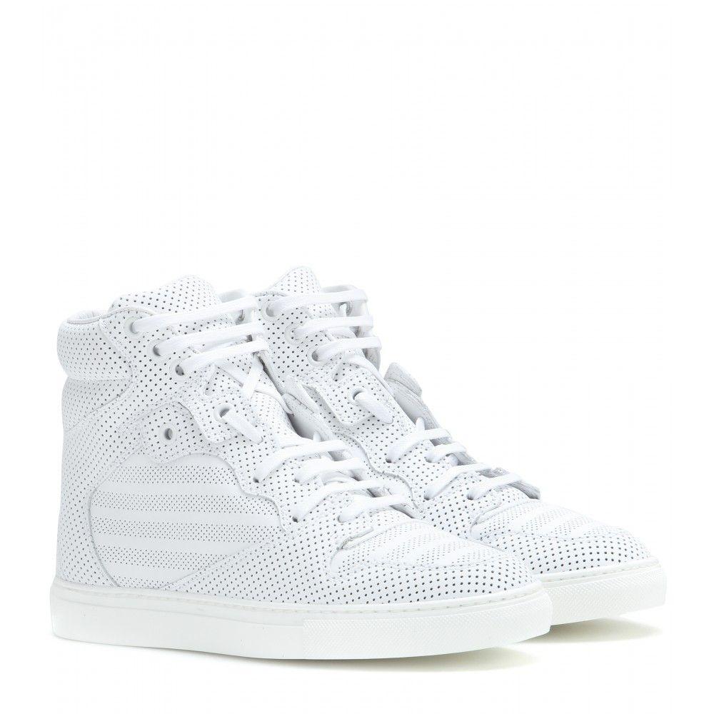 white balenciaga high tops