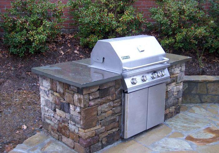 Fieldstone Blue Stone Countertop Outdoor Kitchen Countertops Outdoor Kitchen Bars Outdoor Kitchen