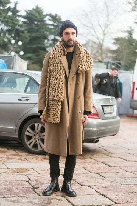Street Style: Camel Cavalli Scarf and Black Dr. Martens: The Daily Details: Blog : Details