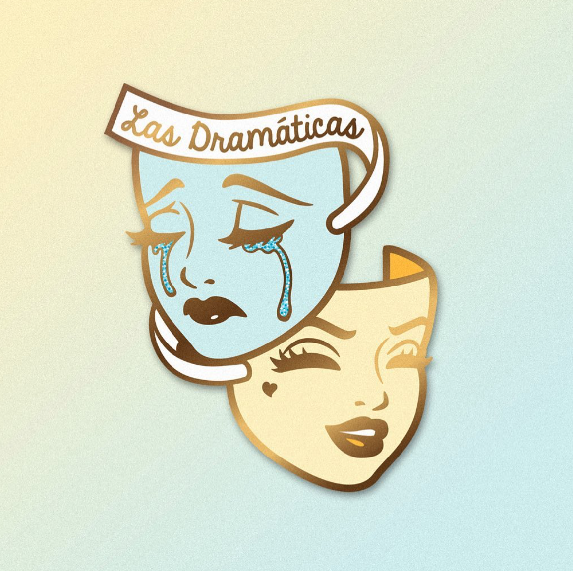 Las Dramáticas Patch Blue Cool drawings, Drawings
