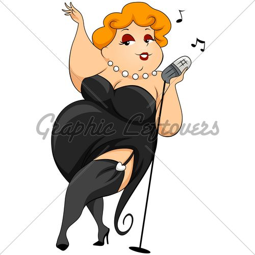 free clip art fat lady sings plump woman singing with clipping rh pinterest com african american pregnant woman clipart free man and woman clipart free