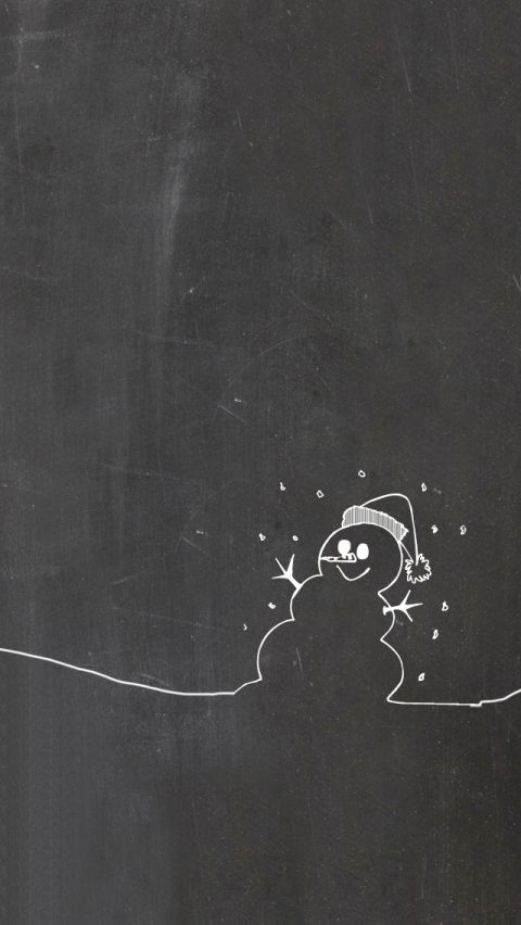 Winter Iphone Ipad Wallpaper Christmas Chalkboard Art