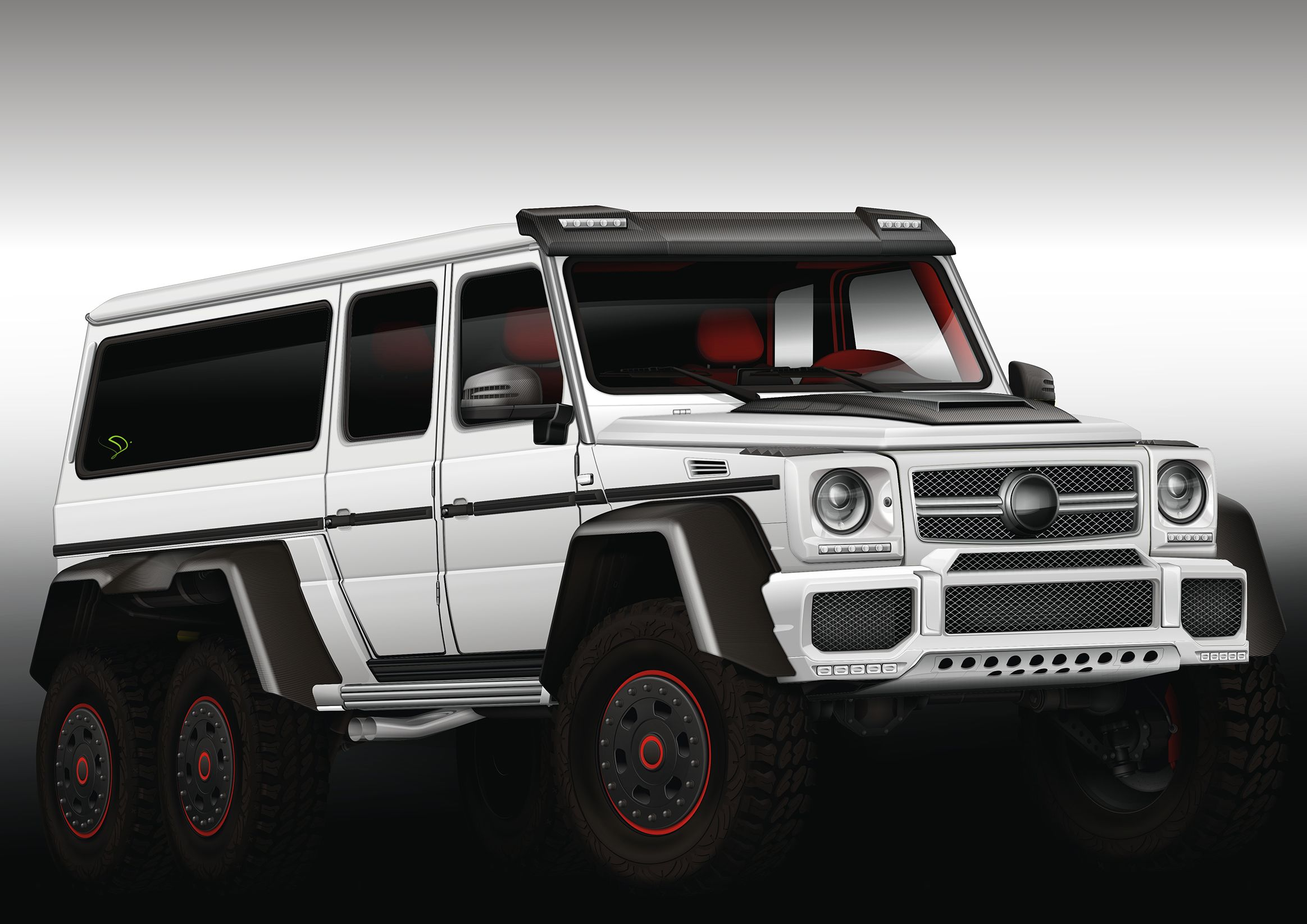 Mercedes Benz G63 AMG 6x6 Full Vector