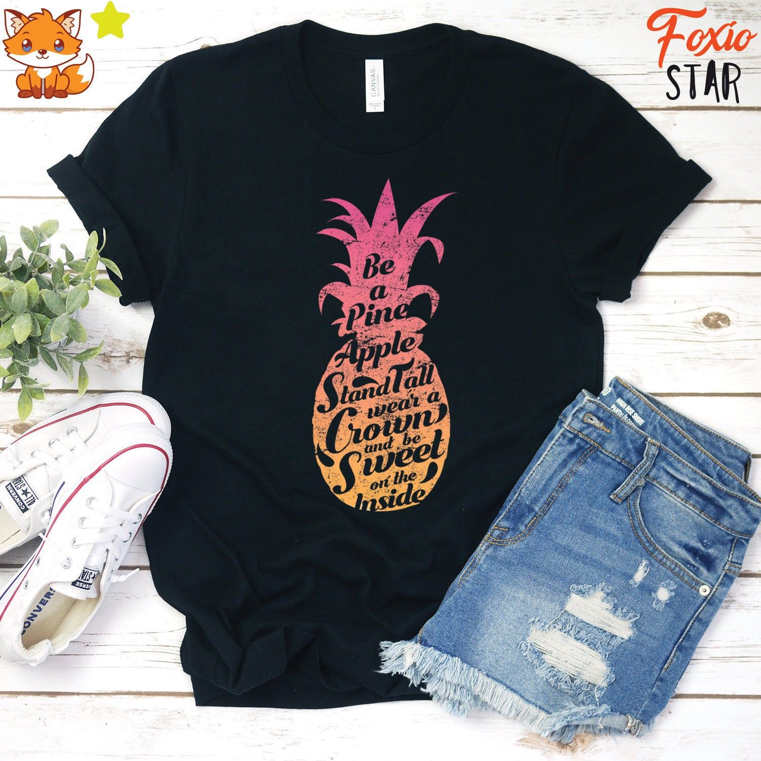 Comical Shirt Mens Stand Tall Wear Crown Sweet On The Inside Pineapple Hoodie
