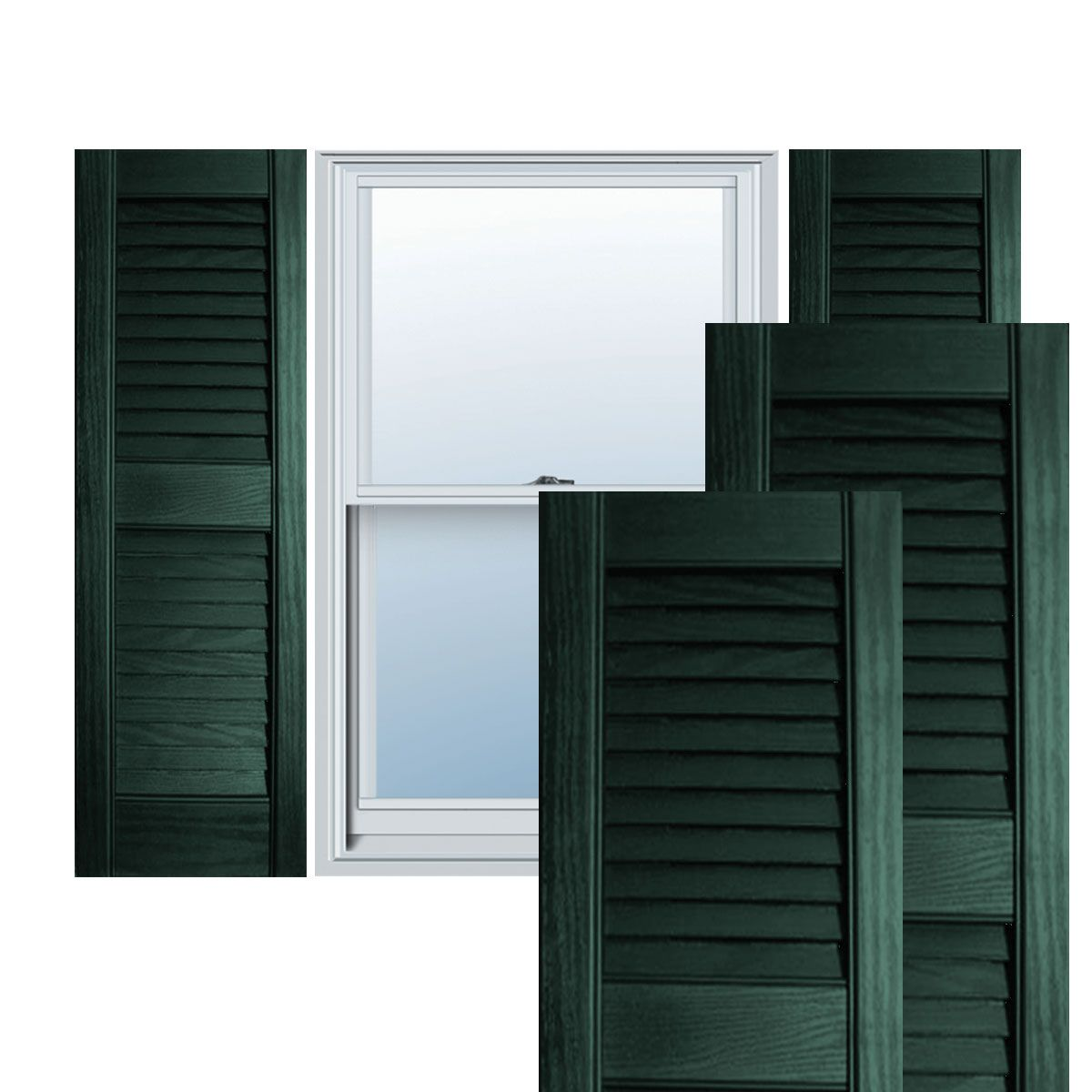 12 X 47 Builders Choice Vinyl Open Louver Window Shutters W Shutter Spikes Exterior Vinyl Shutters Window Shutters Blue Shutters