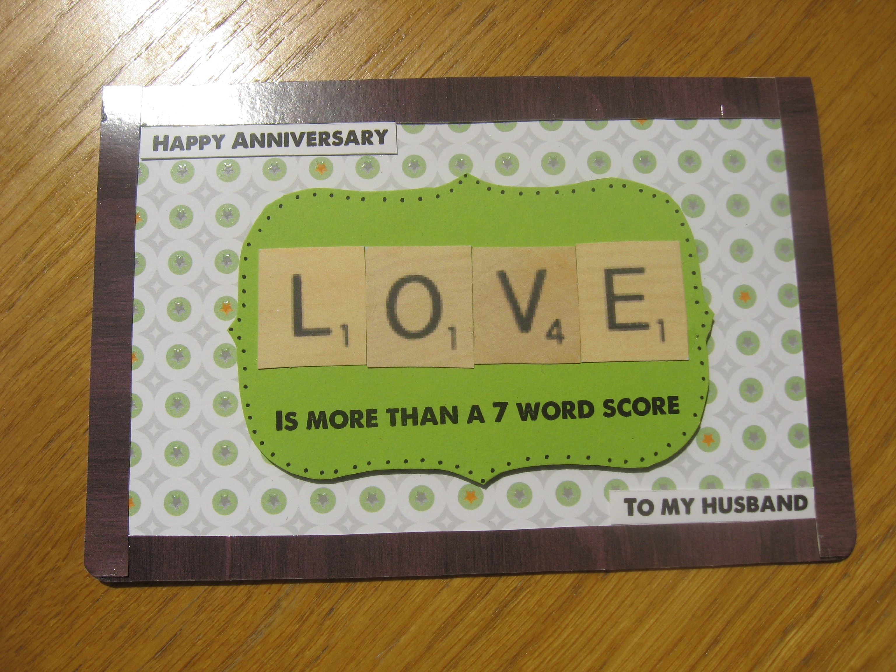 Anniversary Card For Husband The Groff House Pinterest