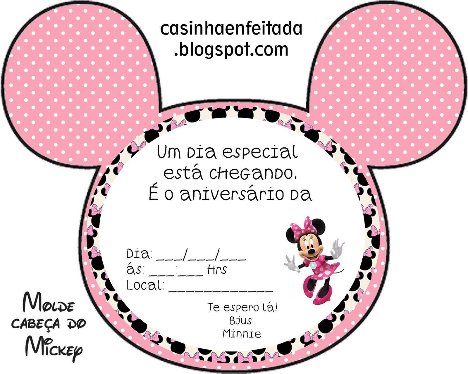 Kit Festa Minnie Rosa Para Imprimir Gratis Minnie Mouse Mice And