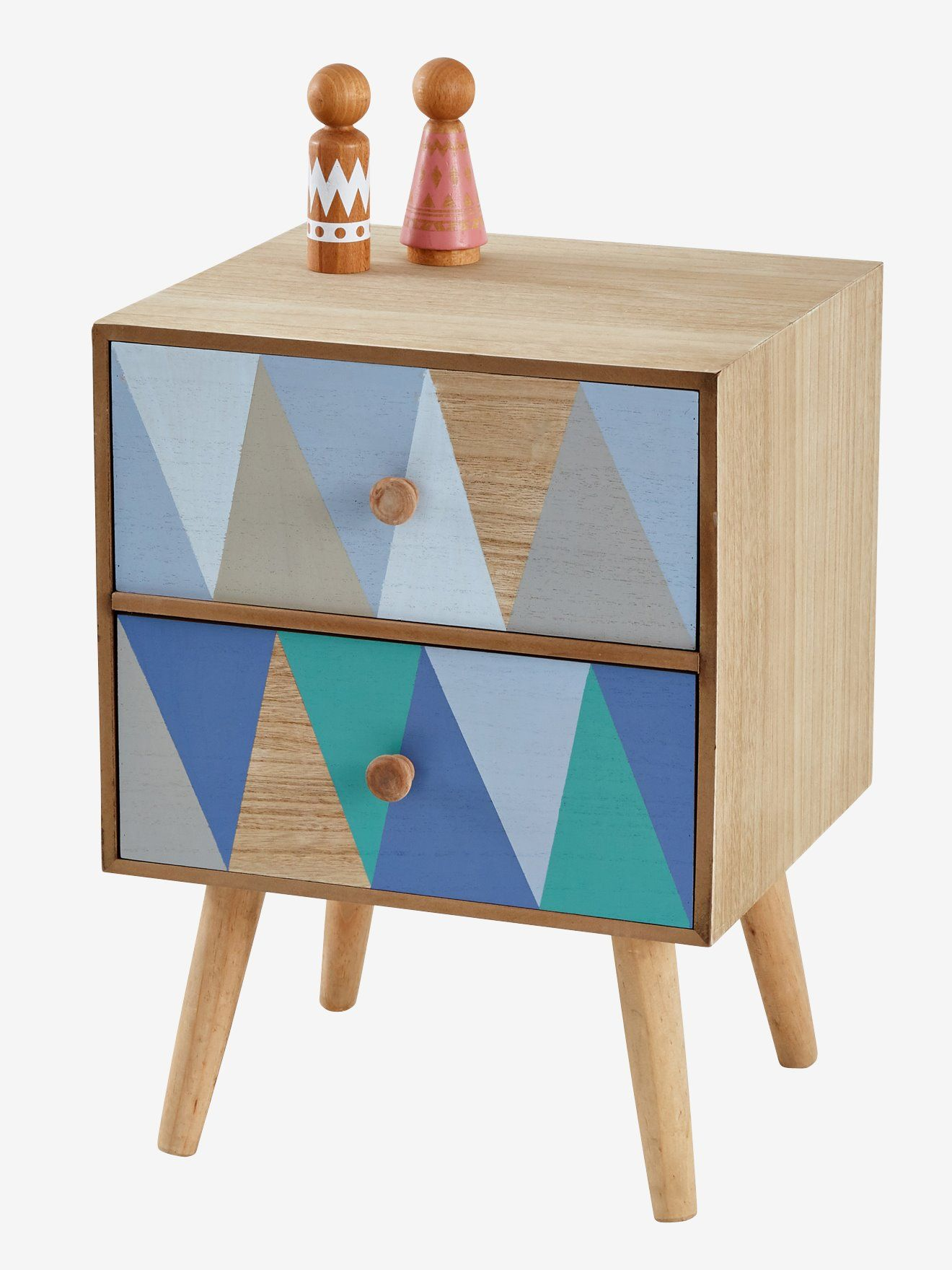 Petite Table Chevet Table De Chevet Losanges Bois Multicolore En 2019 Table De