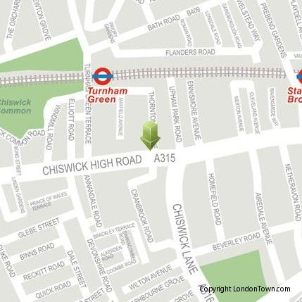 Map of our Head Office in Chiswick, London W4