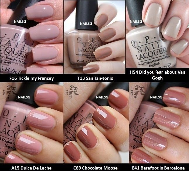 OPI Nail Polish Popular Nude Red Pink Purple Colours