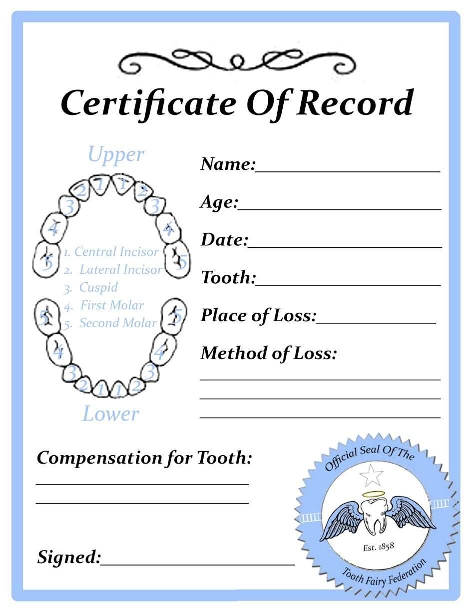 Displaying tooth fairy certificate blankg tooth fairy displaying tooth fairy certificate blankg ccuart Images