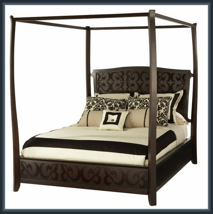 Outstanding Martini Suite Eastern King Canopy Bed Design ...