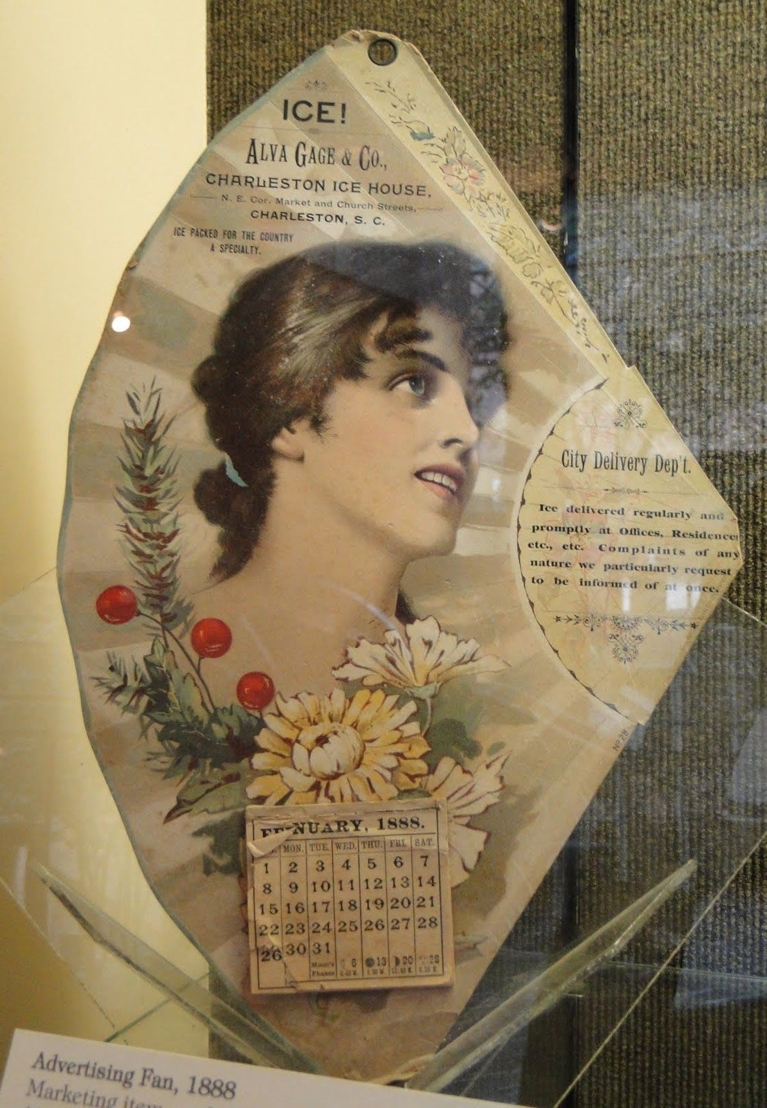 Antique Advertising Fan Vintage Calendar Calendar Advertising