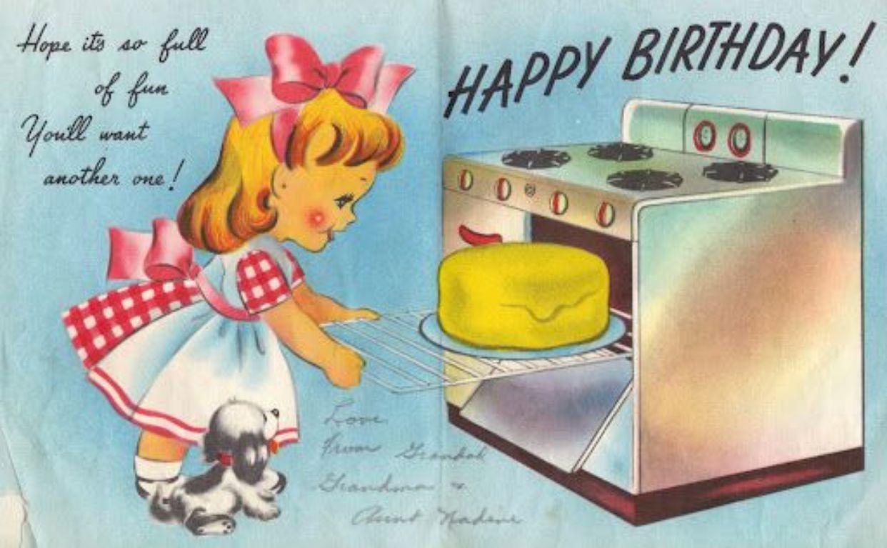 Vintage Birthday Card Charming Vintage Style Kitchens Pinterest