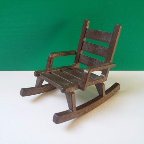 PLAYMOBIL WESTERN FORET Fauteuil Chaise Rocking chair en bois