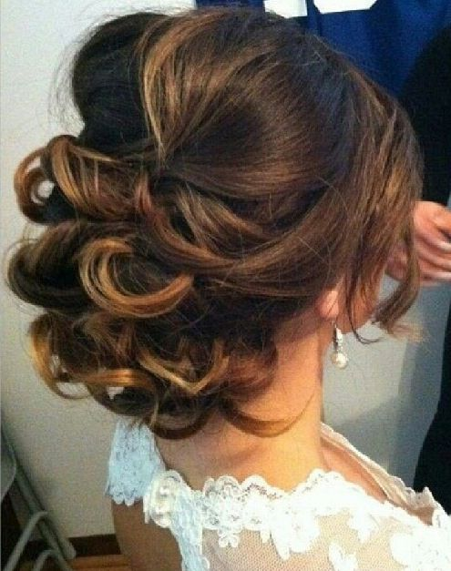 Low Curly Bun Elegant Wedding Hair Romantic Wedding Hair Wedding Hair And Makeup