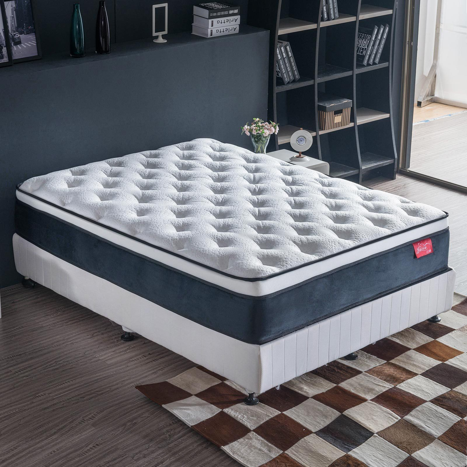latex mattress king single pocket spring foam euro top 30 cm double