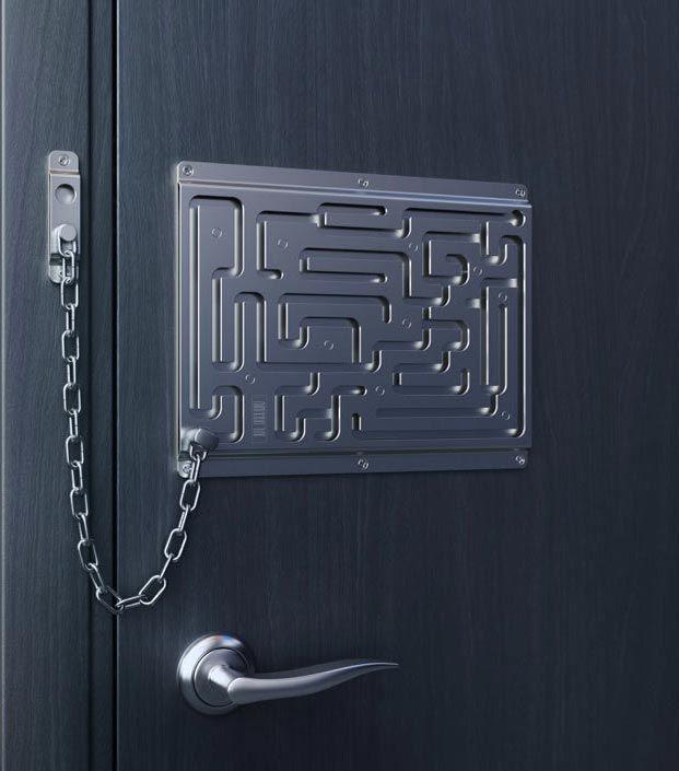 Creative Door Chain Inspired By Puzzle Maze Door Chains Geek Stuff Doors