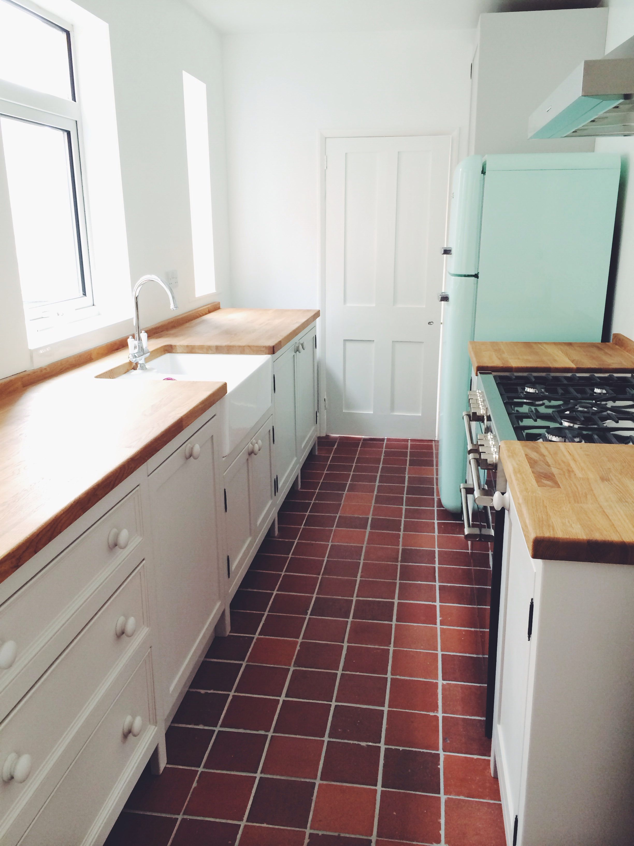Olive Branch Wetherby freestanding kitchen painted in