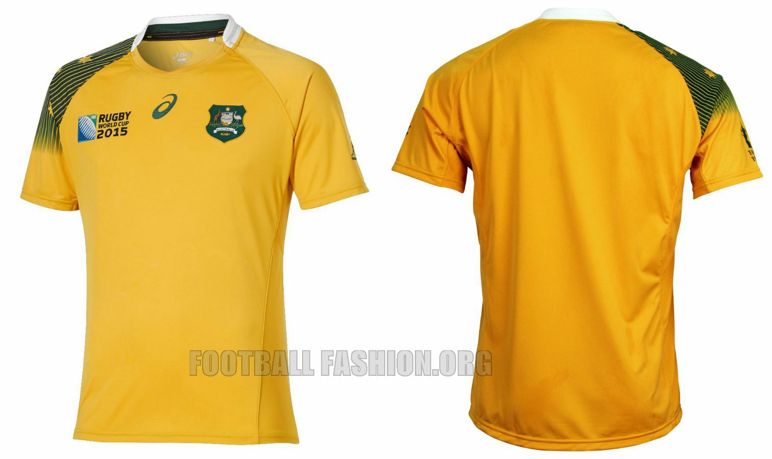 Australia Wallabies 2015 Rugby World Cup Asics Home And Away Jerseys Football Fashion Org 2015 Rugby World Cup Rugby World Cup Rugby