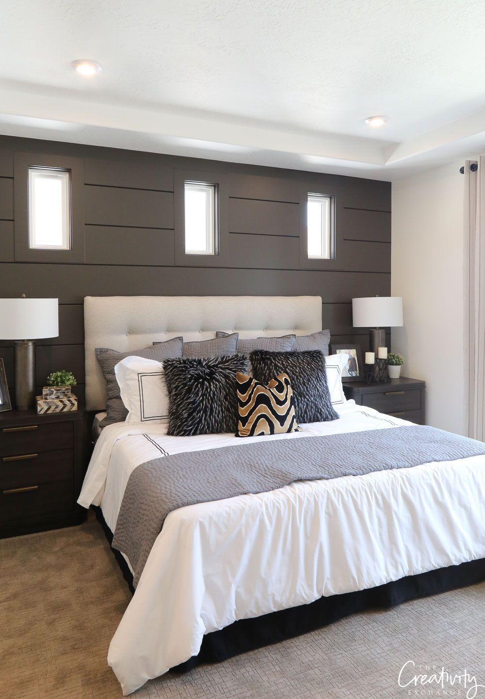 painted shiplap accent wall benjamin moore kendall on accent wall ideas id=61978