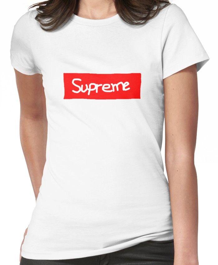 4637331b4260 Supreme (100%Real No fake) Women s T-Shirt in 2019