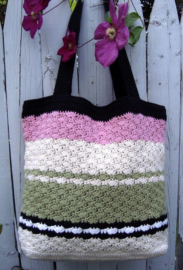 30 Easy Crochet Tote Bag Patterns Crochet Pinterest Crochet