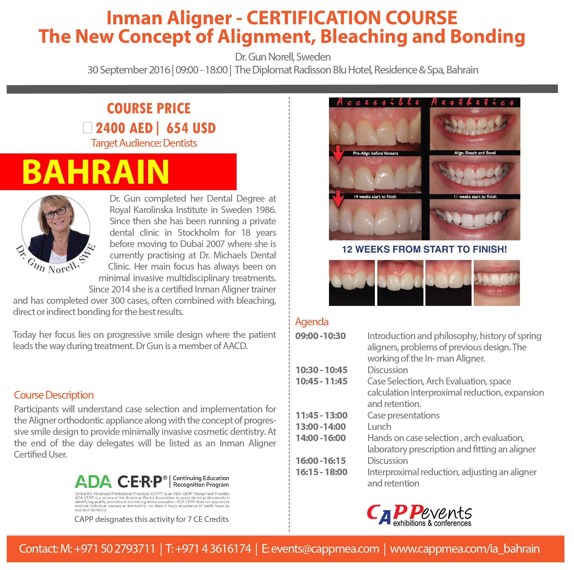 Get your Inman Aligner certification in Bahrain on 30th of September ...