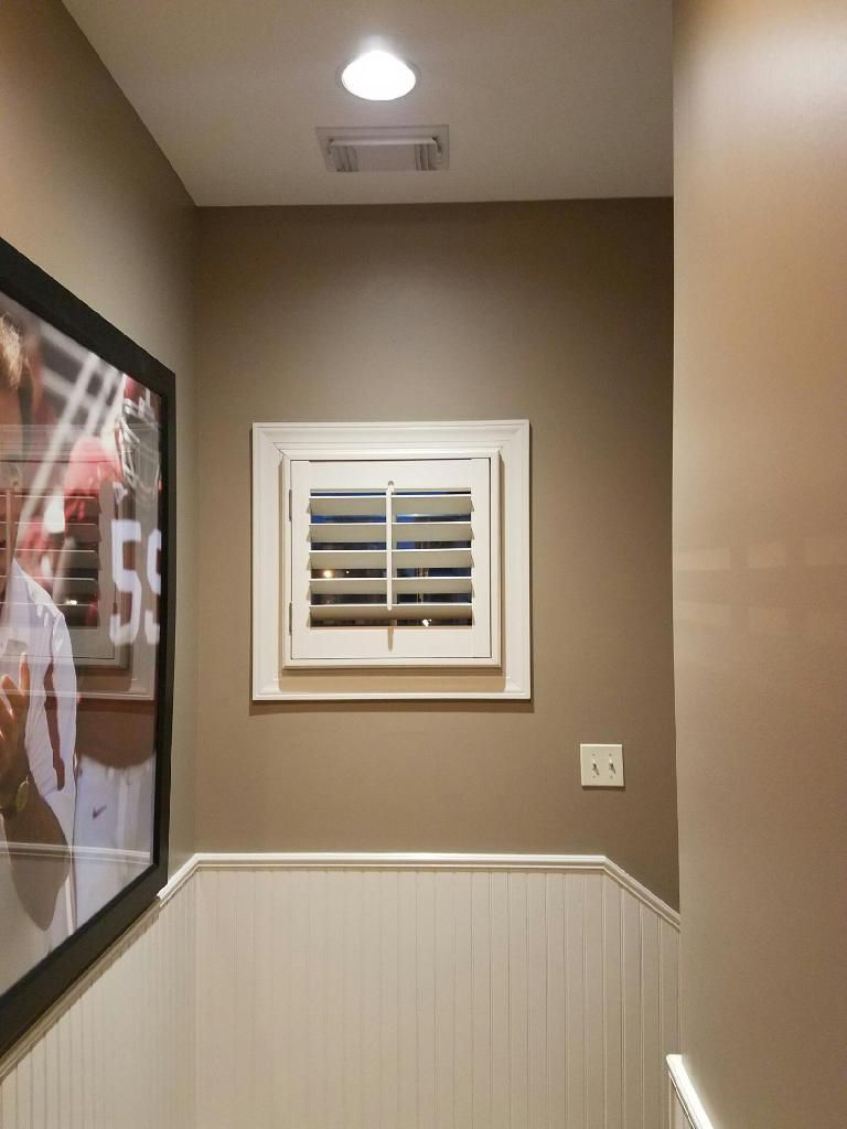 Graber paint matched real wood shutters with 3 12 inch