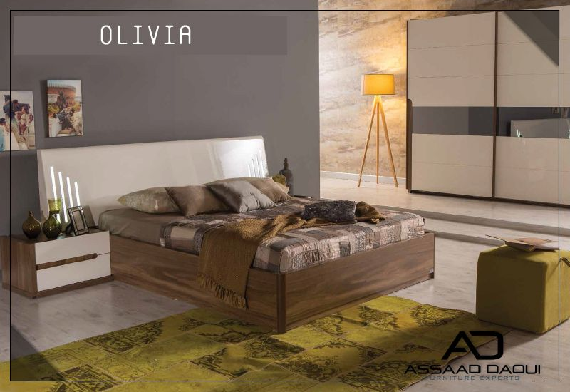 Simple OLIVIA Bedroom from Nills collection Led lighting on the bedstead softens the darkness Best three Ideas - Latest bedstead In 2019