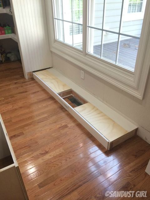 Installing Kitchen Cabinets Over Floating Flooring How To Install A Cabinet Base With A Floor Vent | Honey Do