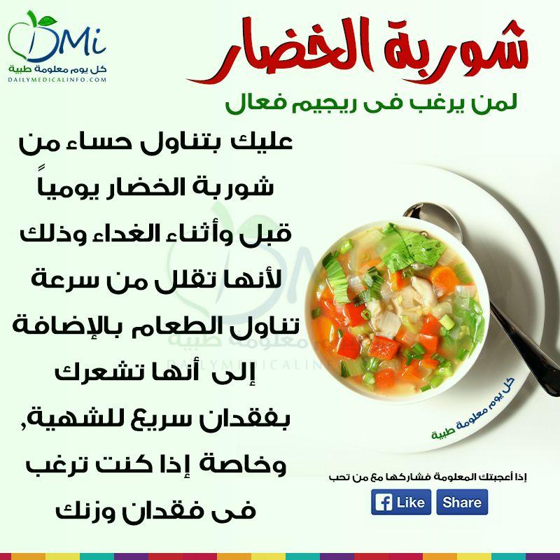 معلومة في صورة كل يوم معلومة طبية Food Facts Nutrition Health Advice