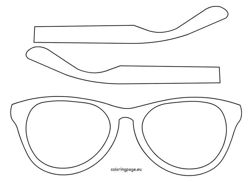 oakley sunglasses coloring pages | Giant Sunglasses Template | Les Baux-de-Provence