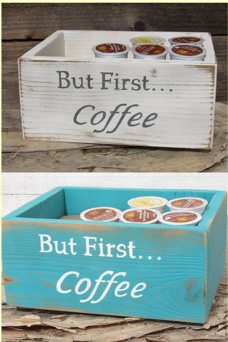 Coffee station storage keurig k cup pod caddy holder