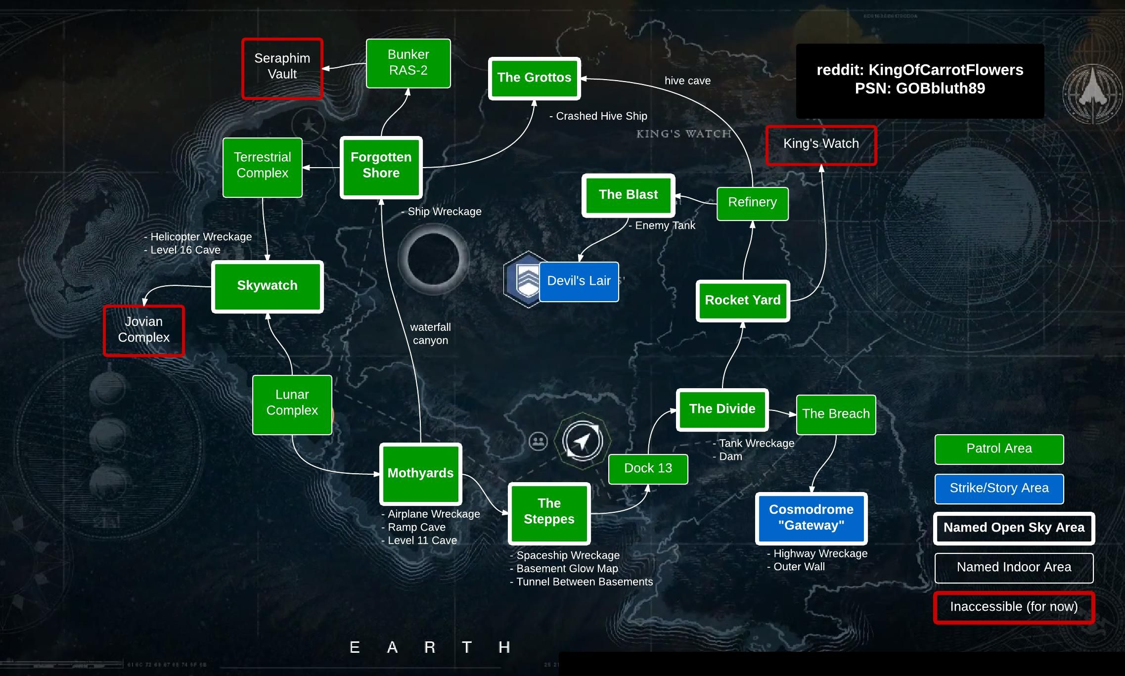 Destiny Earth map | Let's Game, Bruh | Plamap, Destiny the