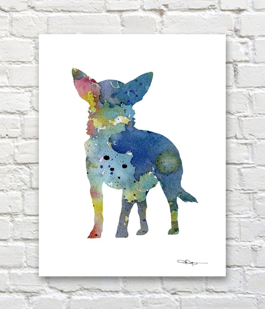 Sphynx Cat Abstract Watercolor Painting Art Print by Artist DJ Rogers