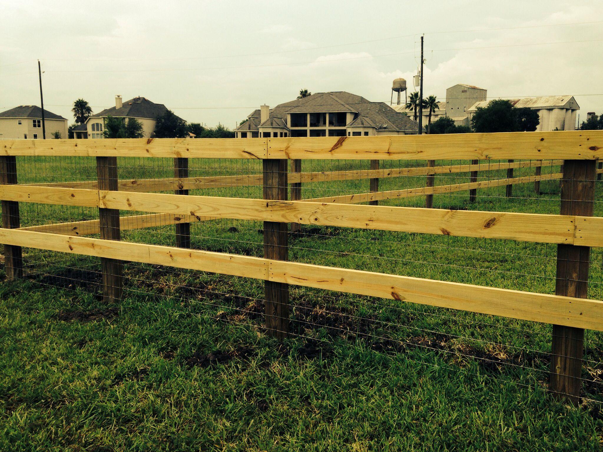 3 rail fence 3 Rail Ranch Style Fence Pinterest