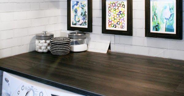 Diy Wood Plank Laundry Room Countertop Diy Kitchen Flooring Diy