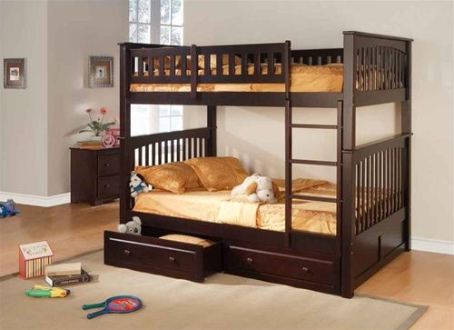 Furniture Of America Industrial Wood Full Bunk Bed Bunk Beds