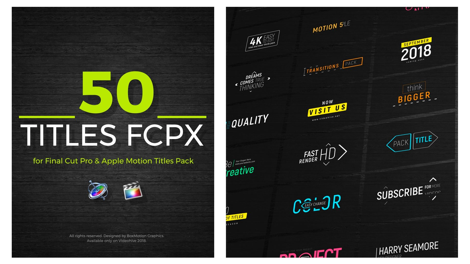 FCPX Titles 50 Motion, Templates, Text animation
