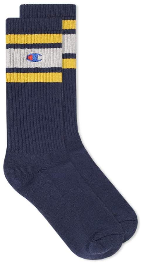8571a8d2ab62b Champion Reverse Weave Colour Block Sock in 2019