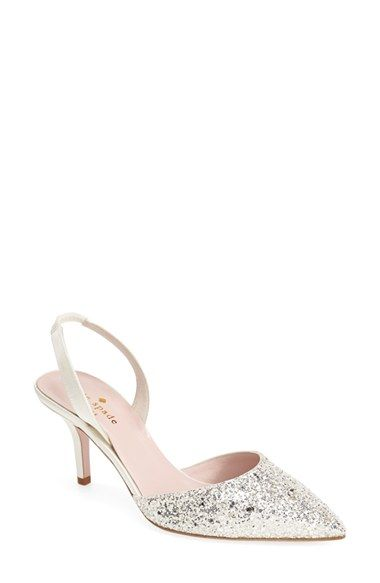 141e5c21c silver glitter slingback evening shoe by Kate Spade from @nordstrom ...