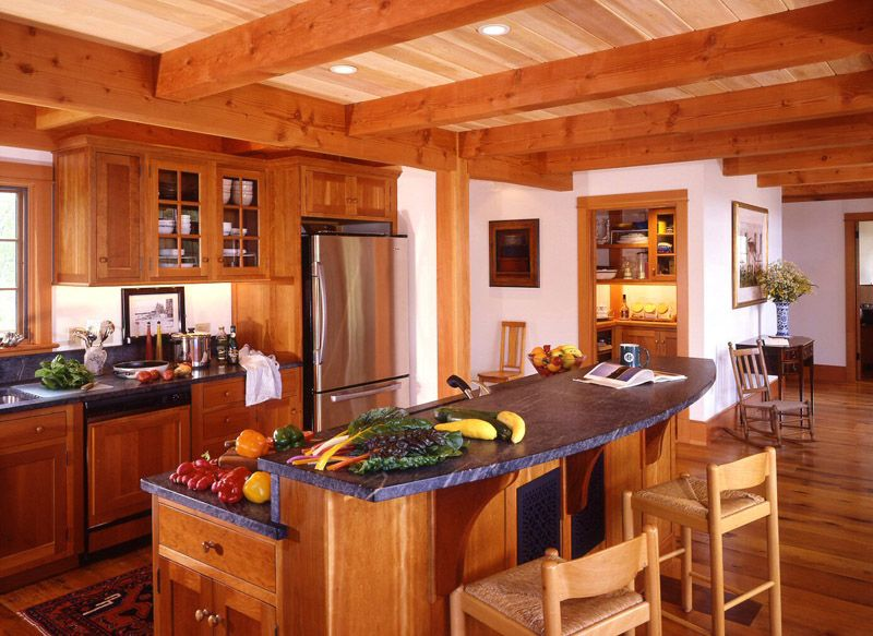 Post and beam kitchens the acadia floor plan 3 bedroom for Post and beam kitchen ideas