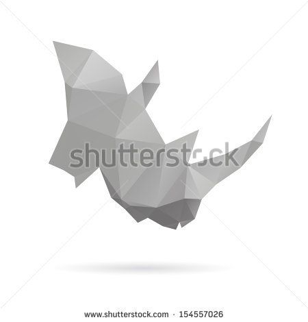 Rhinoceros head abstract isolated on a white backgrounds, vector illustration