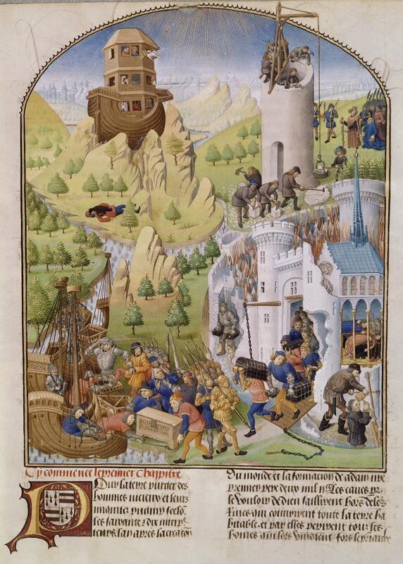 Compilation des Chroniques et histoires des Bretons, vers 1480 (Mélange des thèmes bibliques et helléniques) © BNF