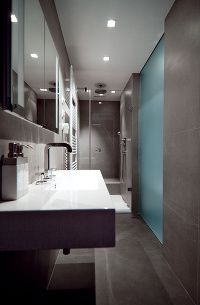 clean uncluttered grey tiles