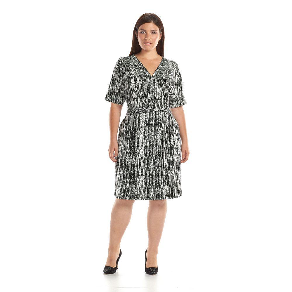 Apt 9 Faux Wrap Dress Women s Plus Size save today Apt 9
