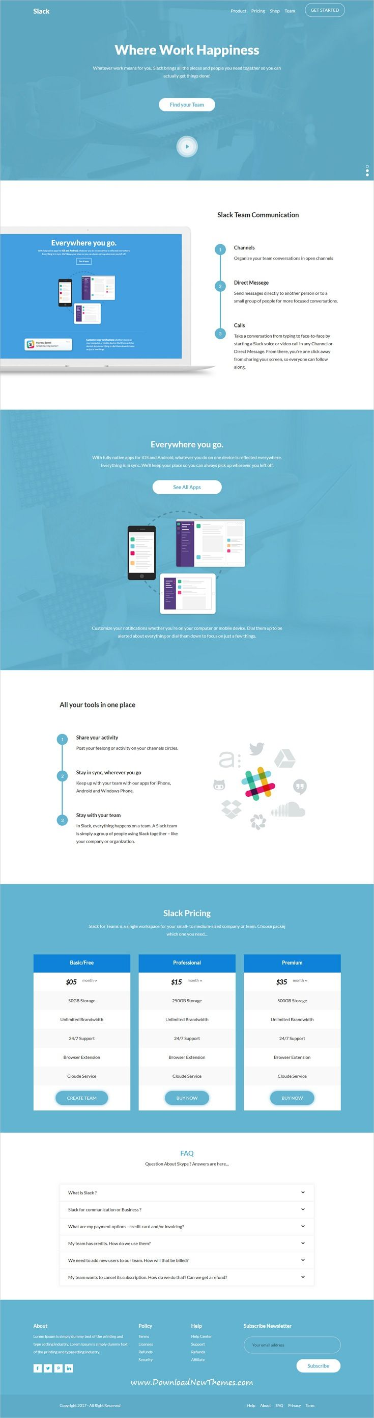 Saaslab Software Saas And Webapp Bootstrap Template With